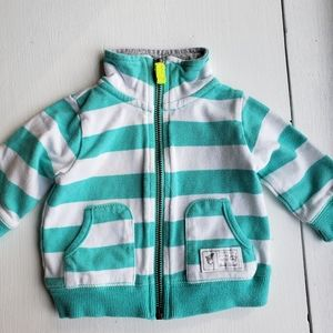 5/$20 aqua striped zip up jacket